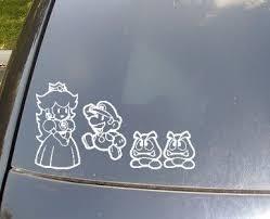 Super Mario Bros Family Car Stickers By Scdj1125 On Etsy Family Car Stickers Family Car Decals Family Decals