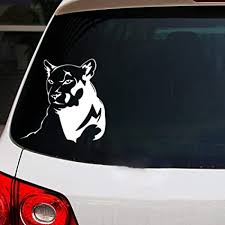 Amazon Com Yimall 2 Pcs 38x40cm Panther V8 Reflective Funny Car Sticker Vinyl Decal Waterproof Car Auto Stickers Silver Black For Bumper Rear Window Sports Outdoors