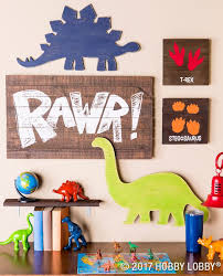 This Darling Dino Decor Is Perfect For Any Little Explorer S Space Dinosaur Decor Bedroom Dinosaur Boys Room Dinosaur Room Decor