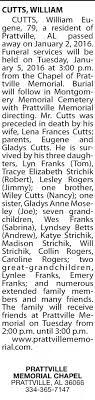2016 Jan 6 (Wed) William Eugene Cutts OBIT - Newspapers.com
