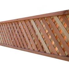 2 1 4 In X 16 1 2 In X 8 Ft Natural Redwood Privacy Lattice Lowes Com Fence With Lattice Top Lattice Fence Toppers