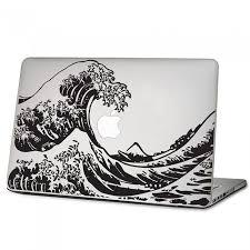 The Great Wave Off Kanagawa Hokusai Laptop Macbook Vinyl Decal Sticker Dm 0136 Macbook Decal Stickers Macbook Vinyl Decals Macbook Decal