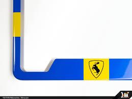 Volvo License Plate Frame Swedish Flag Prancing Moose Klii Motorwerkes