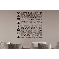 Shop Just Words House Rules Wall Art Sticker Decal Overstock 11588463