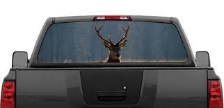 Lone Buck Deer Elk Rear Window Graphic Decal Perforated Etsy