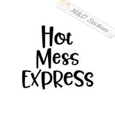 Funny Tagged Express M D Stickers