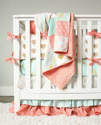 gold heart nursery crib set c mint