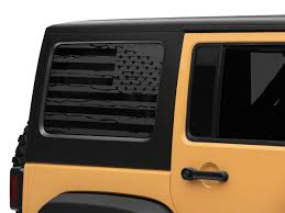 Sec10 Jeep Wrangler Distressed Flag Hard Top Window Decal Matte Black J134512 07 18 Jeep Wrangler Jk 4 Door