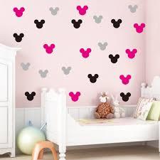 Disney Mickey Minnie Portrait Wall Stickers For Kids Rooms Bedroom Home Decor Cartoon Wall Decals Vinyl Wallpaper Diy Mural Art Wall Stickers Aliexpress