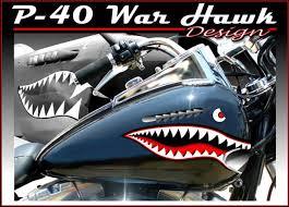 P 40 Warhawk Motorcycle Decals Motorcycle Vinyl Graphics Motorcycle Sticker Tattooed Ride