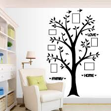 Amazon Com Family Photo Tree Wall Decal Stickers Living Room Home Decal Bed Baby Room Wall Decals Memory Tree And Birds Wall Stickers Words Sticker Arts Crafts Sewing