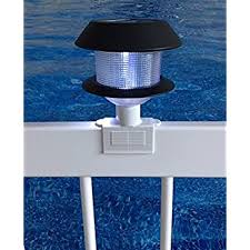 Amazon Com 1 Pack Solar Light For Above Ground Pool Fence Lighting Fits Standard Above Ground Pool Fence Post Garden Outdoor