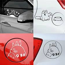 Cartoon Waterproof Car Tank Bumper Stickers Reflective Car Decal Funny Decorative Feed Me Cat My Neighbor Totoro Decal Geek