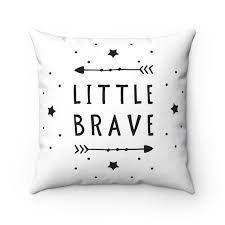Boys Kids Pillows Toddler Room Black And White Little Brave Pillow Cover Scandinavian Pillowcases Nursery Throw Pillow With Images Nursery Throw Pillows Pillows Kids Pillows