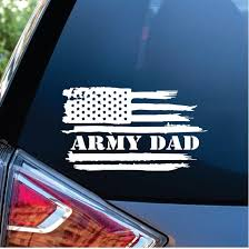 Army Dad Weathered Flag Decal Sticker Midwest Sticker Shop