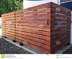 Pool Equipment Wooden Fence Enclosure Stock Image Image Of Black Horizontal 95916975