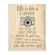 Home Furniture Diy Wall Decals Stickers Life Is Like A Camera Inspirational Wall Decal Motivational Wall Art Quote Decor Mtmstudioclub Com