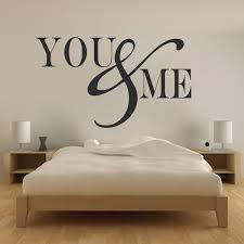 Romantic Bedroom Wall Decal Vinyl Mural Sticker You And Me Quotes Trendy Wall Designs