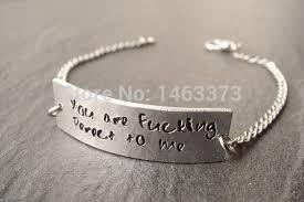 customized unisex quote bracelet hand stamped single bracelet