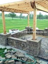 patio stone wall ideas mileshomedesign co