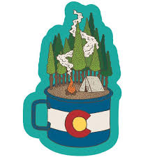 Camping Sticker Sticker Art