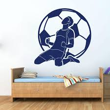 Large Fc Barcelona Soccer Wall Car Laptop Decal Boy Room Football Sport Game Messi Ronaldo Player Wall Sticker Kids Vinyl Art Wish