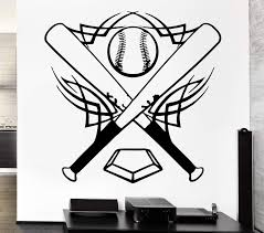 Vinyl Decal Baseball Wall Stickers Bat Sports Ball Great Decor For Boy Wallstickers4you