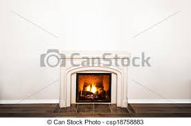 luxurious white marble fireplace and