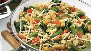 teriyaki vegetable stir fry with ramen