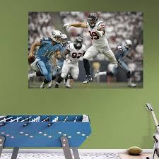 Upc 849469086701 Nfl Houston Texans Jj Watt Mural Big Wall Decal Upcitemdb Com