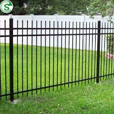 China Ornamental Wrought Iron Fence 3 Rails 5ft Black Fence For Yard China Black Fence Fence For Yard