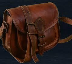 brown leather messenger cross bag
