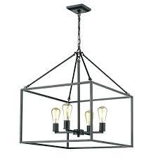 rectangular pendant chandelier 4 light