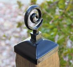 Whimsical Spiral Post Cap For 4x4 Wood Post Fence Post Top Unique Post Cap Ebay