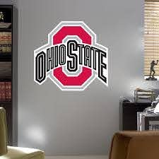 I Plan On Painting The Downstairs Half Bath Grey And Making It Osu Themed This Would Fit Perfectly Logo Wall Owl Wall Decals Wall Decals