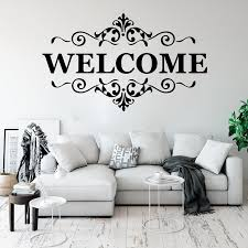 Vinyl Wall Stickers Welcome To Our Home Wall Decals Welcome Quotes Decals Welcome Office Bedroom Decor Kt29 Buy At The Price Of 8 66 In Aliexpress Com Imall Com