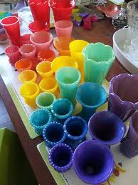 colored milk glass so in right now