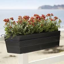 10 Easy Pieces Black Balcony Box Planters Gardenista