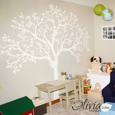 Large White Family Tree Blossom Vinyl Wall Decal Nt007 Etsy
