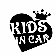 Tgs 10 2cm 10 2cm Kids In Car Decal Vinyl The Crown Of Personality Love Car Sticker Black Silver C10 00747 Car Stickers Aliexpress