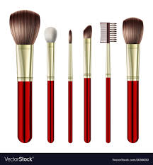 makeup brushes royalty free vector image