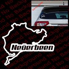 Neverbeen Funny Vinyl Car Windows Decal Die Cut Nurburgring For Bmw Type R Rc031 Ebay