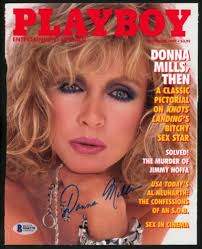 Donna Mills Autographed Signed Playboy Magazine Cover Actress ...