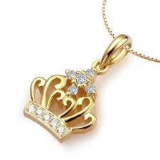 1 8 carat crown diamond pendant on 14k