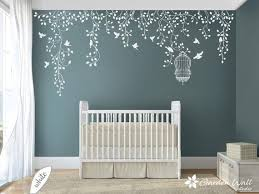 Hanging Vines With Birds And Birdcage Wall Decals Girl Nursery Decor Hanging Vines Wall Decal Hanging Vines Decal Wall Hanging Vine Stickers Nursery Decor Girl Vine Wall Nursery Decor