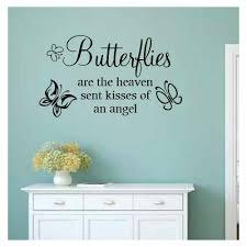 August Grove Sharleen Butterflies Are The Heaven Sent Kisses Of An Angel Wall Decal Wayfair
