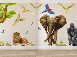 Jungle Leaf Wall Decals Book Ebay Large For Nursery Art Baby Nz Canada Tree Vamosrayos