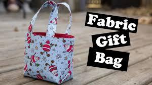 fabric gift bag tutorial you