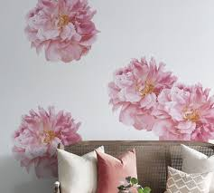 Peony Floral Wall Decal Pottery Barn