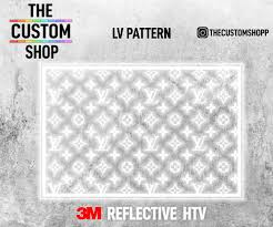 Louis Vuitton Lv 3m Reflective Heat Activated Transfer Vinyl Decals Ht The Custom Shop